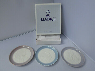 Lladro – 3 Plates Including Looking Out, Swinging, And Duck Plate • 25£