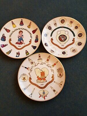 Goss Collectors Annual Plate 1983,1984,1985,~ Limited Edition ~ W.H Goss • 12£