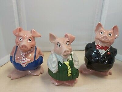 Bundle 3 Collectable Glazed Ceramic Nat West Pig Money Boxes By Wade 17E • 4.80£