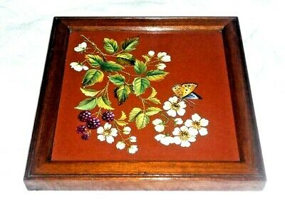 A Superb Mintons Plaque Painted By William Mussill With Butterfly C1880 • 10£