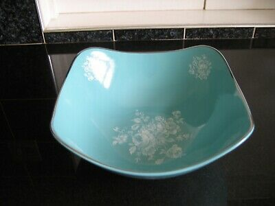 Midwinter Stylecraft Bowl Pretty Blue/Turquoise Colour With White Floral Decor • 4£