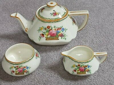 Really Lovely Crown Ducal 1920's Teapot, Milk Jug And Sugar Bowl. • 8£