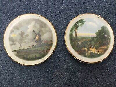Pair Of Harry Hancock Tunstall Ltd Staffordshire Collectors Small Plates Dishes • 1£