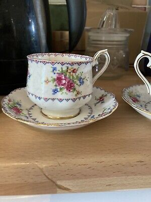Royal Albert - Petit Point  Cup And Saucer X 2 (both Have Cracked Cups) • 1£