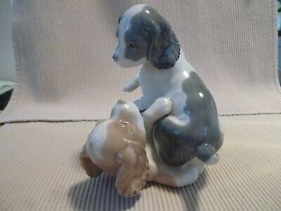 Nao By Lladro  2 Puppies Playing - Mikie And Twerp - Excellent Condition • 14.99£