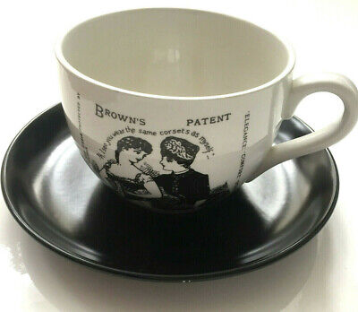 Extra Large  Corsets  Cup And Saucer – Portmeirion Pottery • 2£
