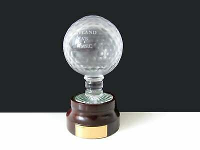 Rare Glass Royal Doulton Sporting Golf Ball Orb Trophy Inscribed Leyland Vs Amec • 39.95£