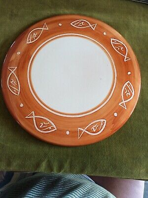 Hand Painted Studio Charger Pottery By SUZANNE KATKHUDA • 4.99£