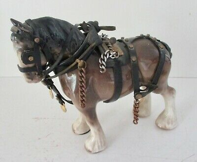 Vintage ~ Melrose Pottery Co. Ltd. ~ Shire Horse In Harness  • 4.99£