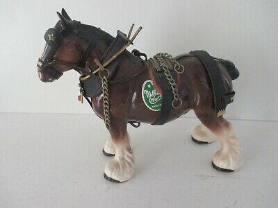 Vintage ~ Melba Ware ~ Shire Horse In Harness  • 4.25£