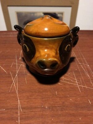 Quirky Cows Head Beef Dripping Pot • 8£