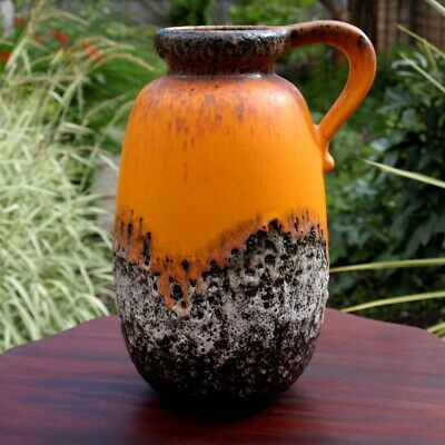 Vintage Mid-Century West Germany Pottery Vase By Scheurich 484-27 • 39.99£