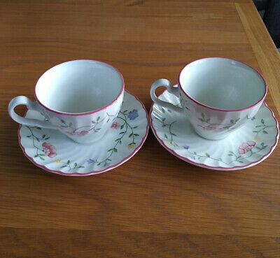 Johnson Brothers Summer Chintz X2  Cups And Saucers. • 3.99£