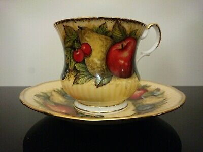 Queens Vintage China Antique Fruit Series Cup And Saucer • 9£