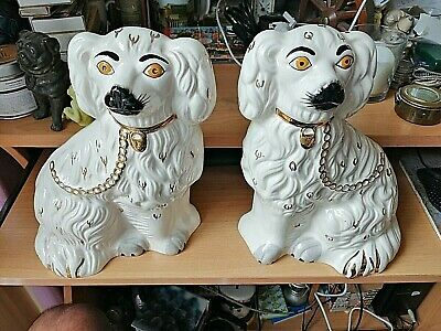 A Pair Of Beswick Staffordshire Spaniel Dogs Approx 10   Tall With Labels • 26.99£