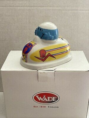 "Wade Collectibles ""Mr Bump In Dodgem Car"" Mr Men Collectable Money Box Boxed • 15£"