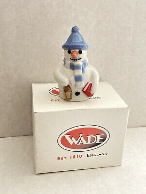 """Wade Whimsies Collectibles """"Mr Christmas Flake"""" Snowflake Family Boxed Snowman • 10£"""