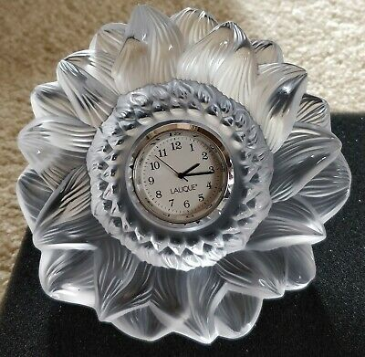 Lalique Clear Crystal Luxury Sun Clock - Brand New With Box • 710£