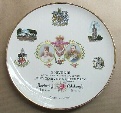 COLCLOUGH ROYAL VALE CHINA COMMEMORATIVE KING GEORGE V & QUEEN MARY (Ref5625) • 19.50£