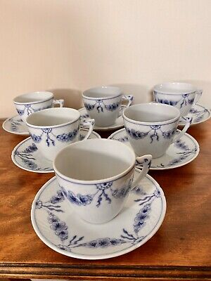 Set Of Vintage Bing & Grondahl Empire Coffee Cups Saucers • 114£