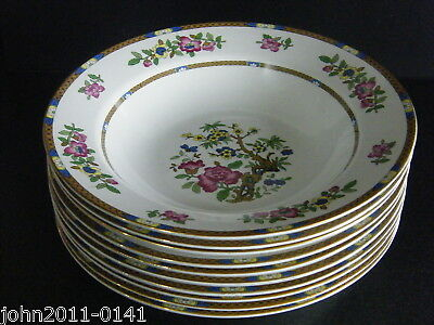 Allertons Indian Tree Soup Plates Flat Rimmed X 10 Excellent Cond 24.5 Cm 9.5  • 20£