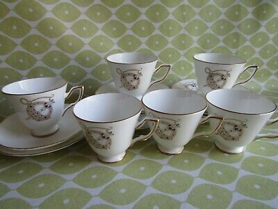 21 Pc Royal Tara Tara Brooch Tea Set Fine Bone China - Galway 6 X Trios Etc • 80£