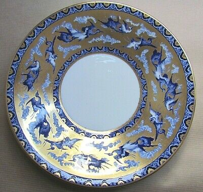 SHELLEY LATE FOLEY BLUE STORKS 8194  8⅞  CAKE PLATE C1914 - SUPER RARE (Ref5687) • 169£