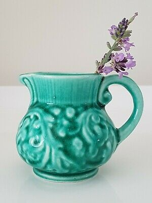 Petite Vintage Staffordshire Roddy Ware Small Green Jug (7cm) • 7.95£