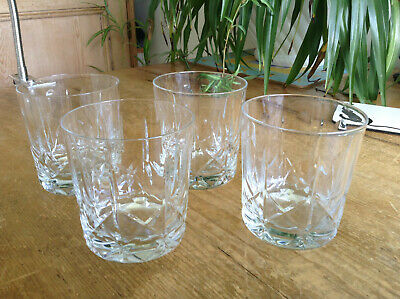 4 Signed Brierley Winchester Cut Crystal Tumblers 3.25  X 3  • 20£