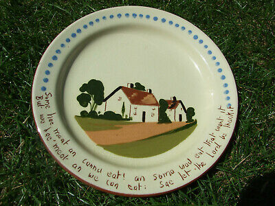 TORQUAYWARE MOTTO PLATE WATCOMBE 'Some Has Meat' • 10£