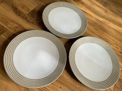 Denby Intro Sand Stripe Dinner Plates Tableware • 7.99£