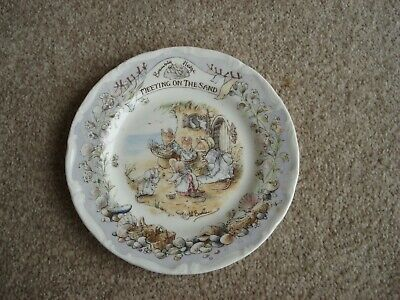ROYAL DOULTON BRAMBLY HEDGE ~ 16cm PLATE ~ MEETING ON THE SAND ~ FIRST QUALITY  • 20.99£