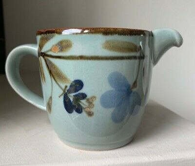 Small Highland Stoneware Hand-painted Milk Jug With Floral Pattern - 9 Cm Tall • 18£