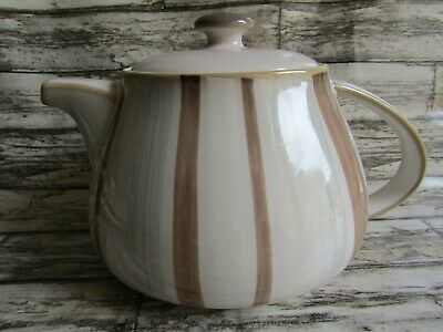 Denby Truffle Layers Large Teapot Beige Cream Stripe  • 24.99£