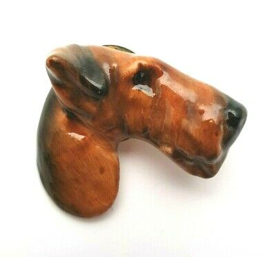 Very Rare Royal Doulton Airedale Terrier Dog Brooch - Perfect • 113£