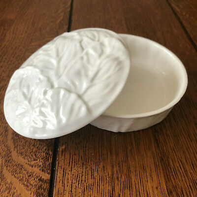 Coalport Countryware Trinket Box With Removable Lid, White China Made In UK • 8£