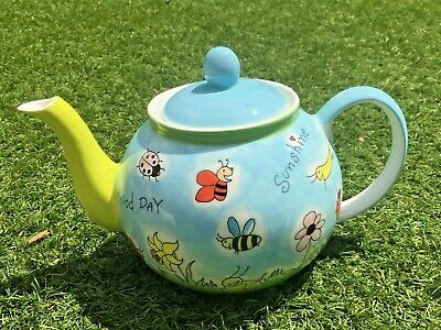 Colourful Mila Teapot (bees And Flowers Design) • 10£