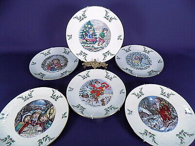 Royal Doulton Christmas Plates X 6  1977-1982 With Hangers  • 26£