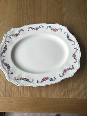 Collectable Vintage Alfred Meakin Harmony Shape Flora Pattern Serving Platter • 4£