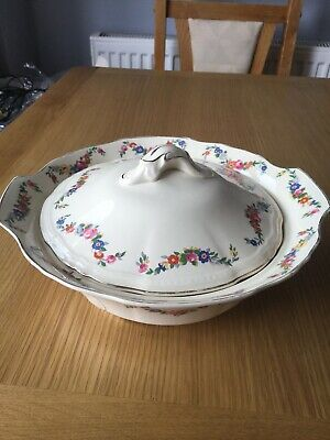 """Collectable Vintage Alfred Meakin """"Harmony Shape"""" Floral Pattern Lidded Tureen • 4£"""