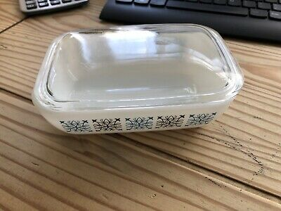 Vintage 70s Pyrex Chelsea Butter Dish With Glass Lid • 15£