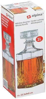 Glass Decanter Whiskey Sherry Brandy Liqueur Decanter 1L Glass Decanter  • 6.29£