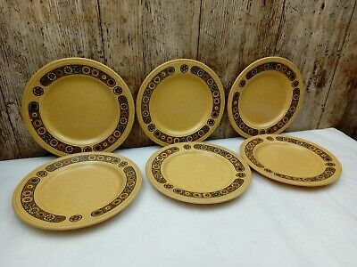 Vintage Kiln Craft Bacchus Set Of 6 X 17cm Retro Tea / Side Plates. • 12£