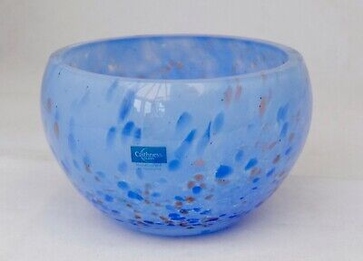 Caithness Glass Bowl Blue And Copper Aventurine Inclusion • 14£