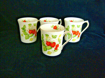 Queens China Virginia Strawberry Mugs  - Excellent • 39.99£