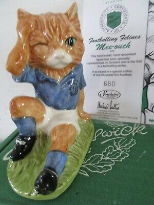 Beswick Footballing Cat Mee Ouch Ltd Edition Of Only 1500  Boxed & Certificate  • 25£