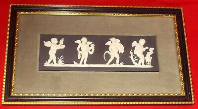 Wedgwood BLACK JASPER WARE - THE SEASONS Plaque • 220£