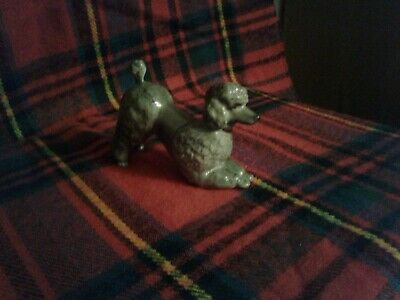 Vintage Small Branksome China Grey Poodle With Red Collar.   • 20£