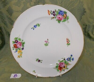 Antique Nantgarw / Swansea Scattered Floral Plate Gilt Edged Circa 1800's  (B) • 110£