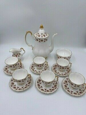 Coronet Bone China Tea Set For 6 Pink • 30£